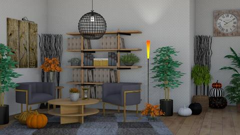 Autumn gray - Living room  - by DecoGracia