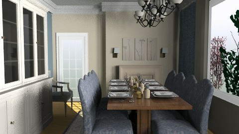 Blue Cream - Classic - Dining room  - by Anita Selgrad
