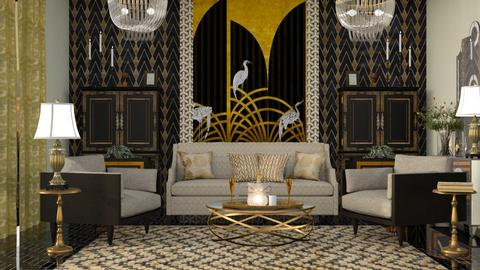M_ Art deco living - Living room  - by milyca8