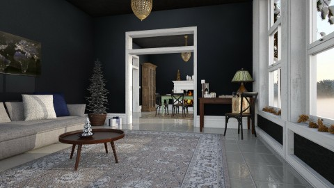 Christmas - Eclectic - Living room  - by evahassing