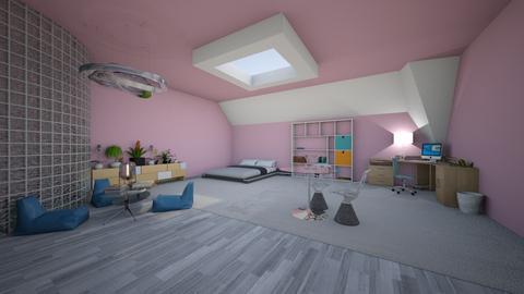 Attic Bedroom - Modern - Bedroom - by Scarlet777