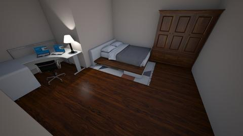 Dark Wooden Floor Room - Bedroom - by Galaxy Warrior