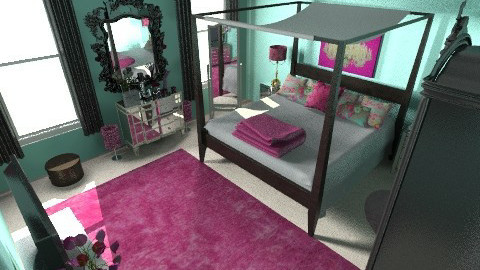 Mint Green_Pink Glam - Glamour - Bedroom  - by AubriG88