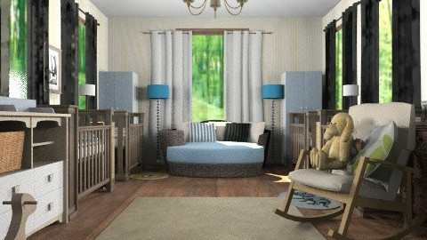 Triplets Nursery - Classic - Kids room  - by aveneym