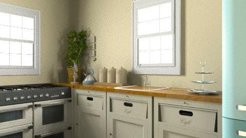 Shabby Chic Kitchen - Vintage - Kitchen - by cassiemc