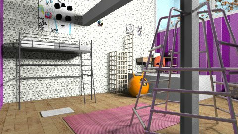 Acrobatic girl room - Glamour - Bedroom  - by Liberty Interior