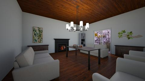 a peaceful lake house - Living room  - by XenaChico