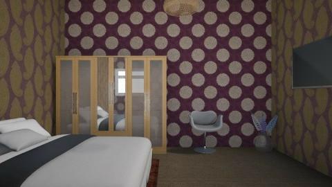 p.v's mom dad's bedroom - Retro - Bedroom  - by Margret Arora