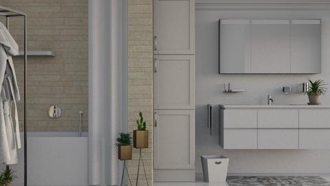 Simple Tone - Modern - Bathroom  - by millerfam