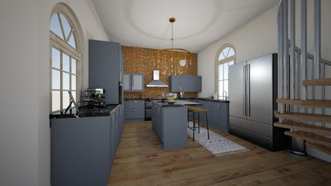 Grey Kitchen_Living area - Country - Kitchen  - by Bfcraven