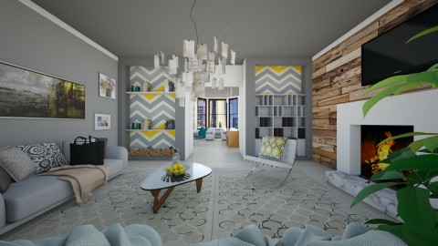 Classic Dutch House - Modern - Living room  - by bgref