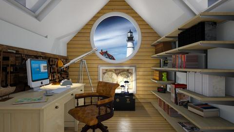 nautical office - Modern - Office  - by donella