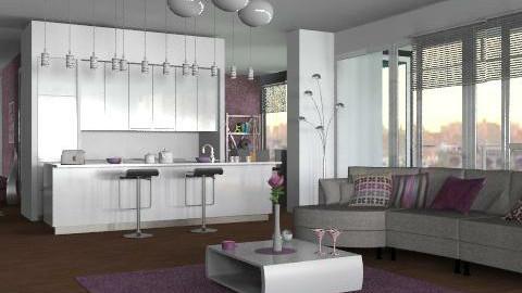Richard Meier a5 - Modern - Living room - by Rooooo