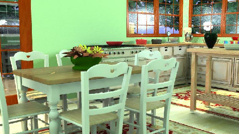 Green Country Kitchen - Country - Kitchen  - by egrimsley