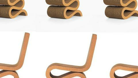 Frank Gehry WIGGLE CHAIR - by cat 77