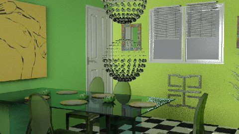 Lemon Merangue - Dining Room  - by WaxButterfly