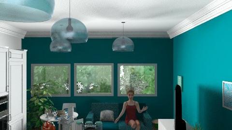 cozinha azul 3 - Eclectic - Kitchen  - by bigas