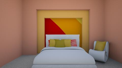 Colorful  - Bedroom  - by Cuddle_Puppy
