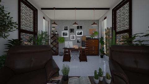 Urban Jungle Office - Minimal - Office  - by kristenaK