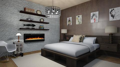 modern bedroom - Modern - Bedroom  - by steker2344