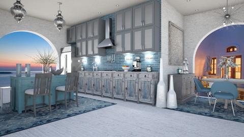 GREEK DINING 2 - Modern - Kitchen  - by RS Designs