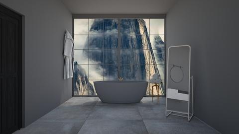 Grey Bathroom - Bathroom  - by Popcorn the Designer