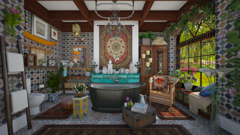 Bohemian bathroom - Eclectic - Bathroom - by maja97