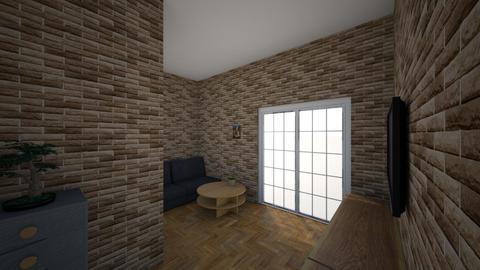 b - Modern - Living room  - by Dudek221