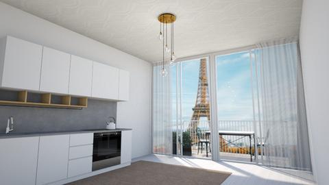 Paris Apartment - Bedroom  - by WhyIsGamora