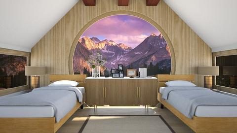 Mountain Cabin - Bedroom  - by nkanyezi
