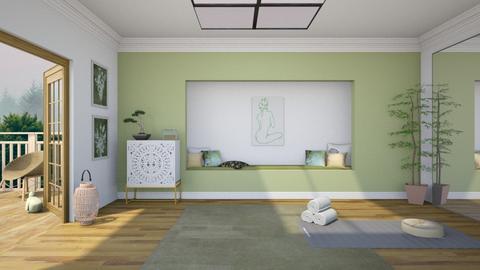 Home yoga sanctuary - by ginamelia22