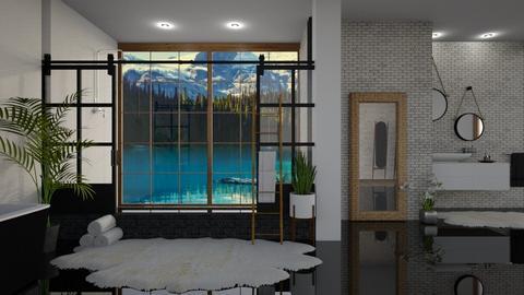 Beautiful Canada Mountain - Bathroom  - by Dragonets of Destiny