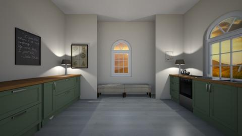 Modern Farmhouse Kitchen  - Kitchen  - by rubyg3201