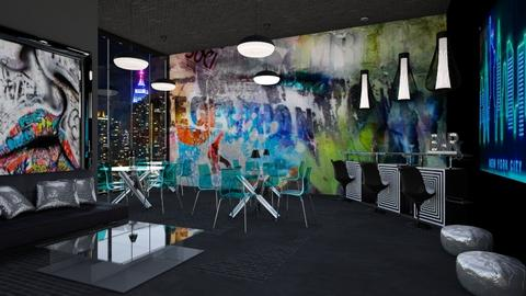 GRAFFITI RESTAURANT - Eclectic - Dining room  - by RS Designs