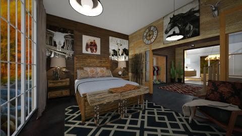 cabin on the lake - Rustic - Bedroom  - by kla