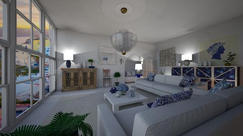 Modern Greek Livingroom1 - Living room  - by mikaelahs