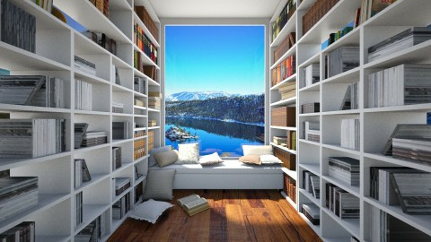 Aesthetic home library - by leenvandesande
