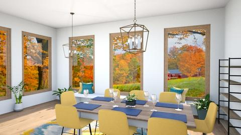 fall dining room  - by HorseGirl_E09