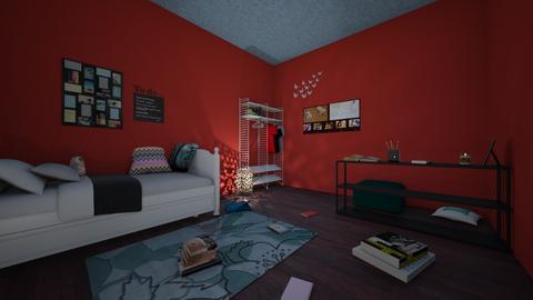 The dorm room - Bedroom  - by EmilyAlien