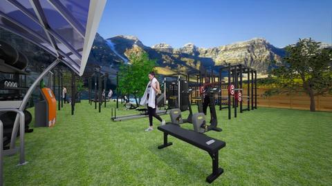 Outdoor gym - Minimal - Garden  - by BlackOrchidea