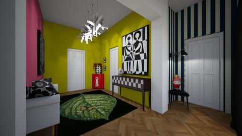 modern playful hallway - by bettamarchegiano