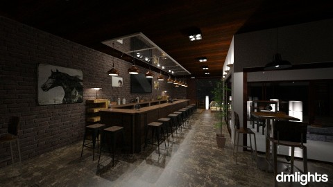 bar - Rustic - Dining room  - by DMLights-user-1383470