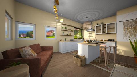 Boho Kitchen 2 - Modern - Kitchen  - by Isaacarchitect