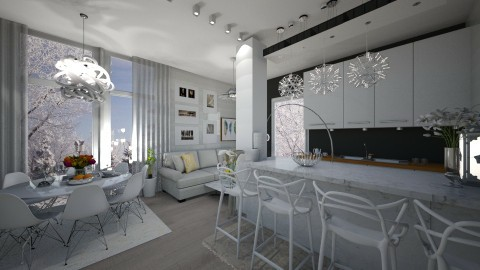 White so white  - Modern - Kitchen  - by NikolinaB26