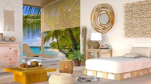 Summer Beach Bedroom - Eclectic - Bedroom  - by Sally Simpson