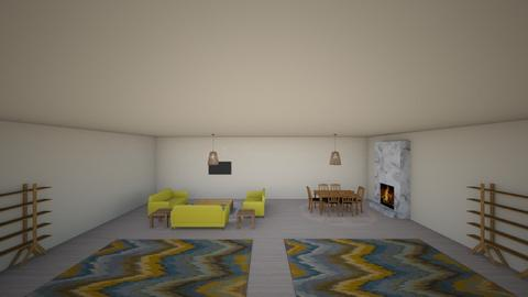Living and Dining Space - Living room  - by BubbleSloth