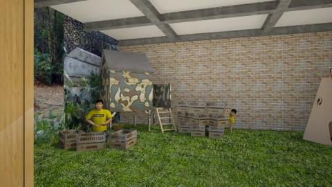Paintball arena - Modern - Garden  - by Savina Ivanova