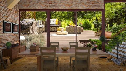 Garden dining room - Dining room  - by Mufix