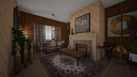 Man Abode - Eclectic - Dining room - by Irishrose58