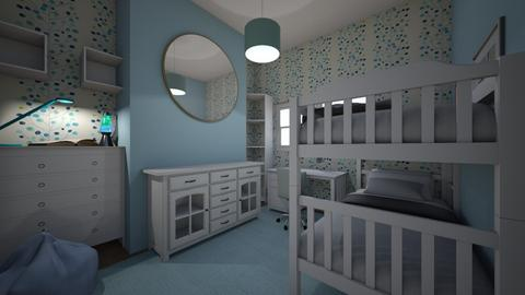 Bedroom design blue - Modern - Bedroom  - by DerpyMoggins